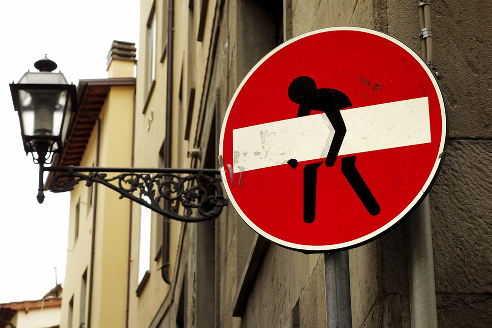 Street art in Florence by CLET