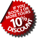book 2 or more tours and get a 10% discount!