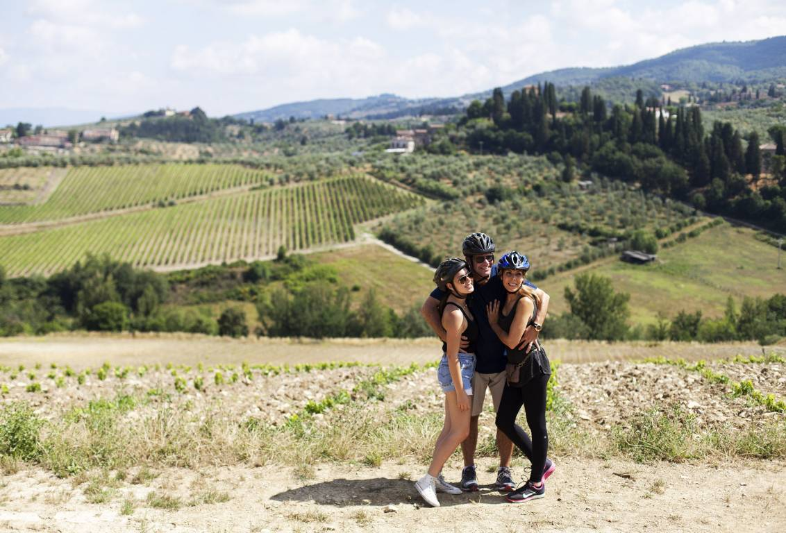 our one day bike tour will lead you along scenic country roads hemmed in ancient olive groves and vineyards