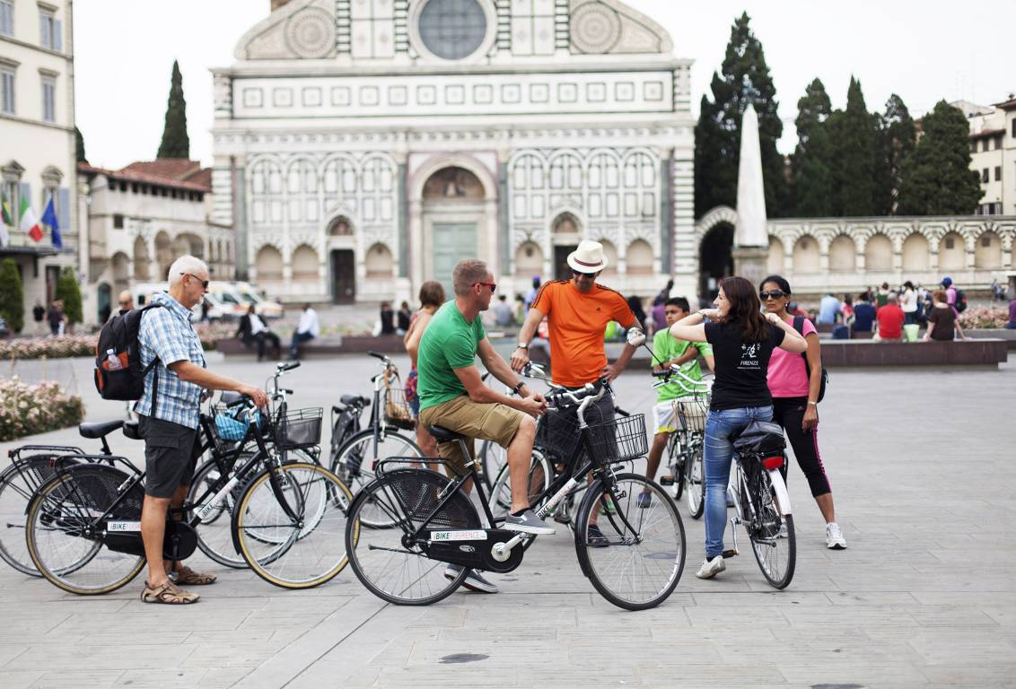 florence bike tour: you will reach the most amazing monuments of Florence and unknown spots from where to admire the city