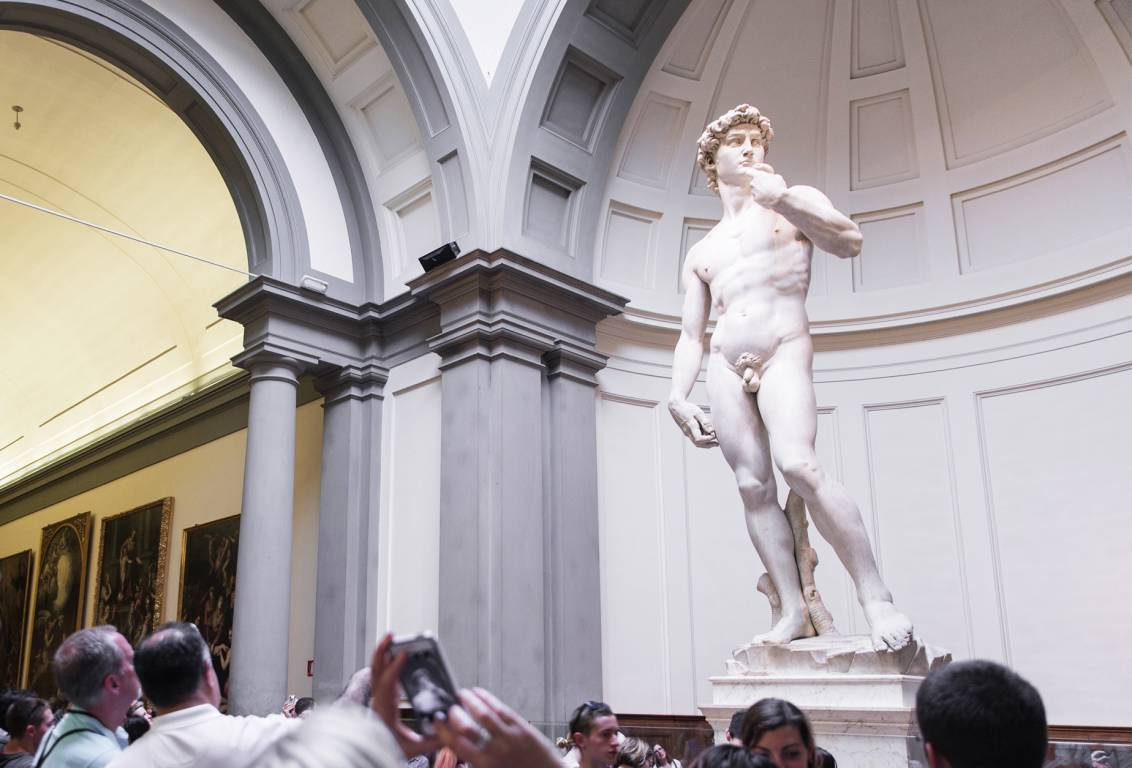 visit the Accademia Gallery museum with a skip the line priority entrance ticket and discover the David, the original Michelangelo masterpiece