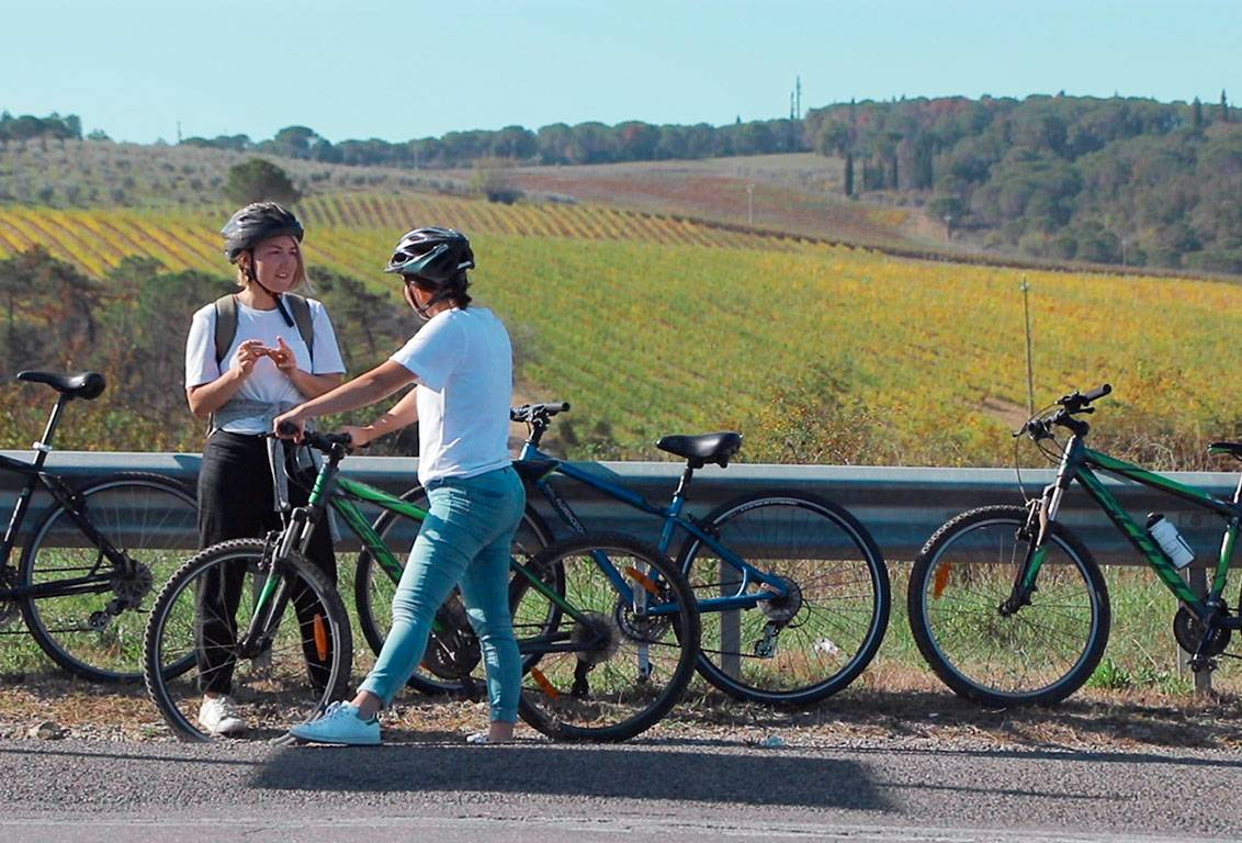 Our one day bike tour of tuscany is suitable for anyone, either pros or wannabe bikers: a minivan support is always available