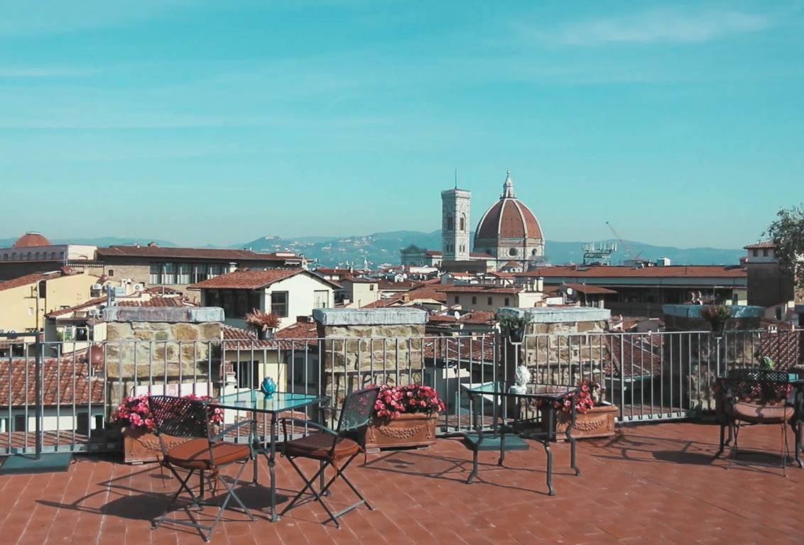 included in our florence walking tour, a relaxing italian breakfast on a magnificent panoramic private terrace