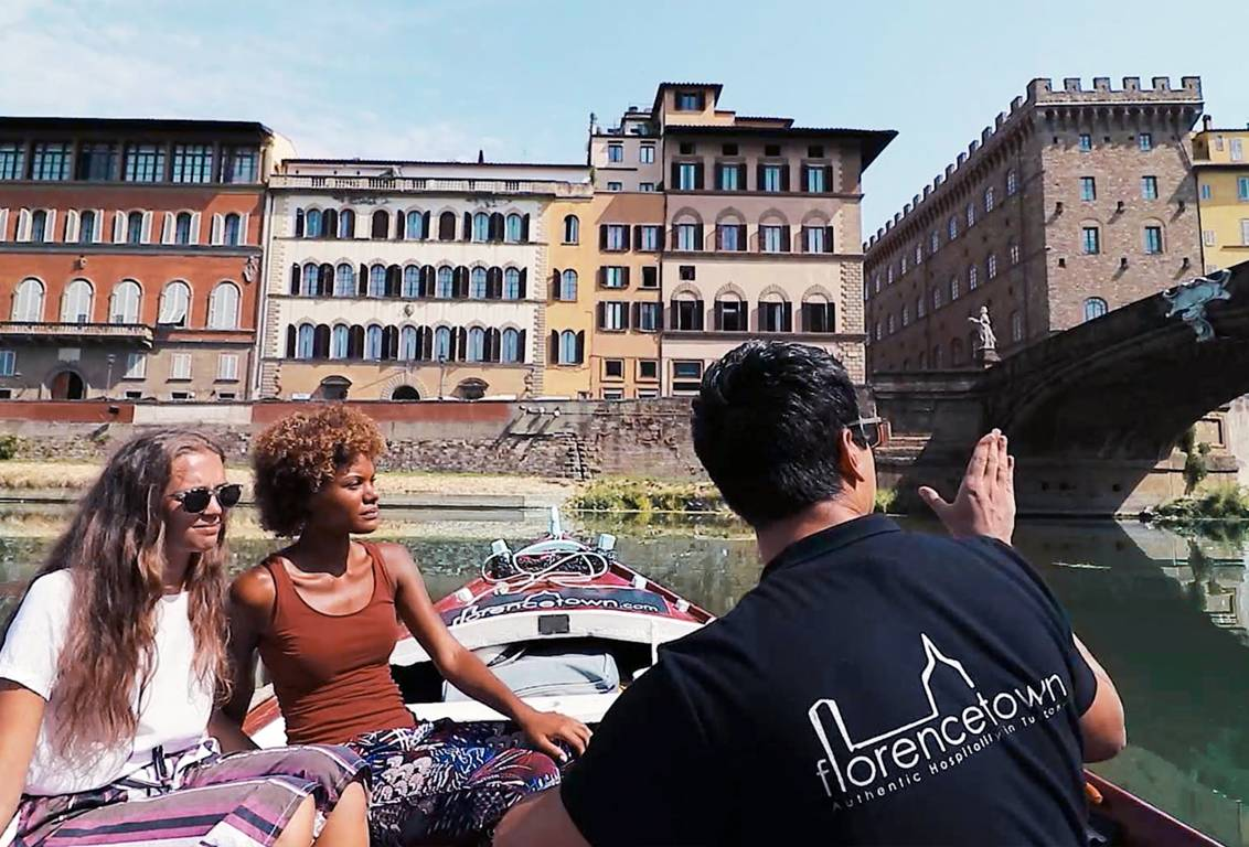 enjoy our florence boat tour with a licensed English speaking guide on board