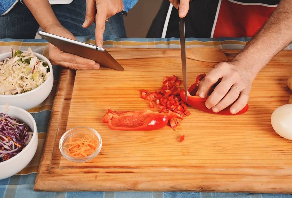 enjoy our online cooking classes: fresh ingredients and delicious recipes