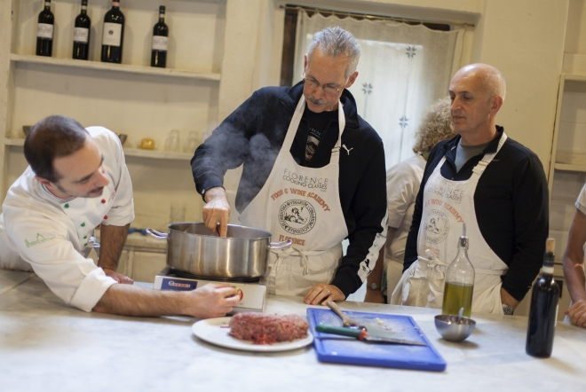 during our cooking class in florence you will put your hands on the ingredients to create your own meal, driven by the expert guidance of our Chefs