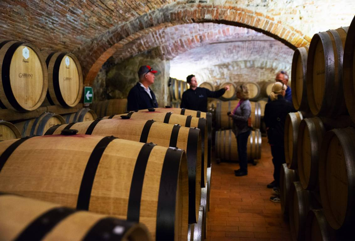 private wine tour of florence: visit three wineries in the tuscan countryside and their wine cellars and learn about the different methods of wine production