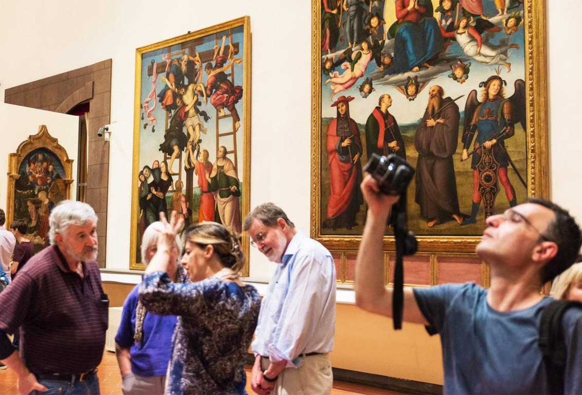accademia gallery museum houses the famous Michelangelo's David but marvellous paintings too