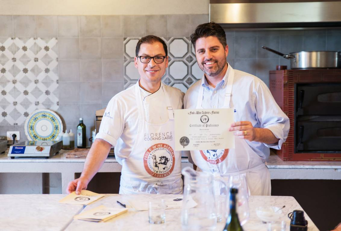 after our cooking class you will return to florence in our minivan, holding your well-earned Graduation Certificate