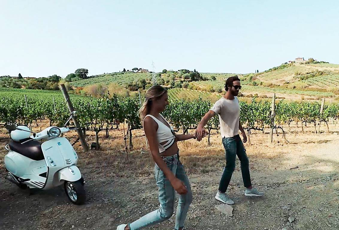 tuscany by vespa tours:visit a famous winery and enjoy a guided tour of cellars