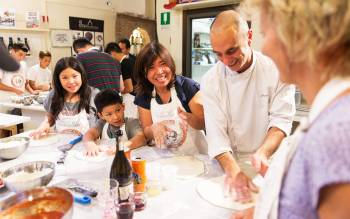 Pizza class is strongly recommended for families that wish to have children learn about the Italian culture