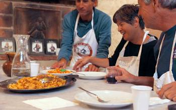 after the small group cooking course, enjoy a delicious typical products tasting