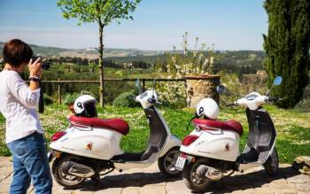 The Mall outlet Florence and tour of Tuscany by Vespa