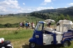 tuscany by vespa is the only tour which guarantees support with tuscany tuk tuk vehicle