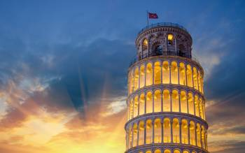 admire the world-renowned Pisa Leaning Tower and its unique and dramatic elegance