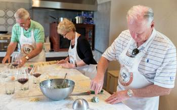 Cook your gourmet Italian lunch and bring back home the secret recipes